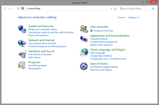 Use the Device Manager to Update- Open Control Panel