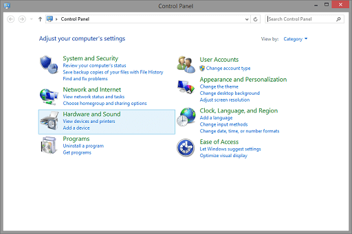 Use the Device Manager to Update- Click on hardware and sound
