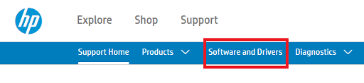 Download the driver from HP's website