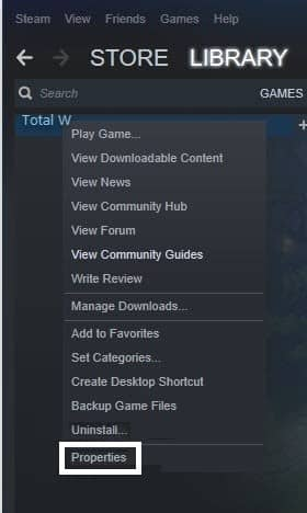 VERIFY INTEGRITY OF GAME FILES Function of Steam- properties