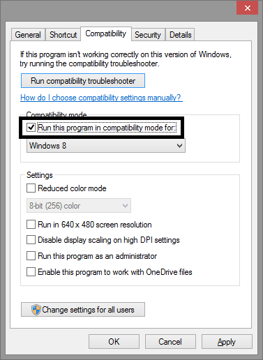 Change the Compatibility Settings of Total War Warhammer 2 - checkbox