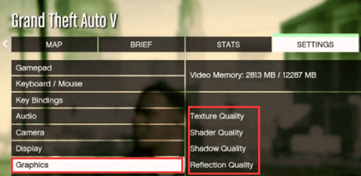 Lower the graphics settings