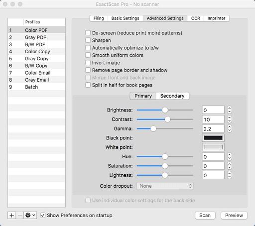 ExactScan- best scanning software for mac