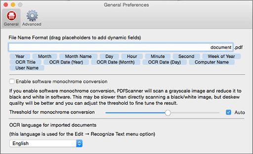 PDFScanner -mac scanning software