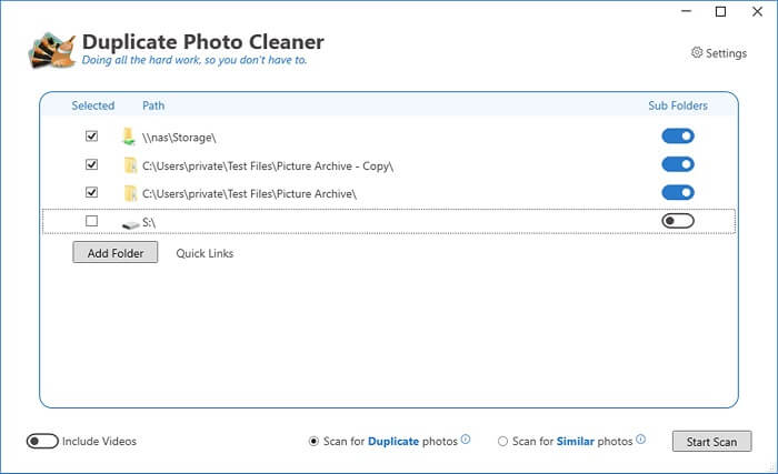 duplicate photos cleaner by Duckhead Software