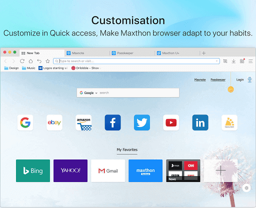 Maxthon Browser- free web browser for Mac