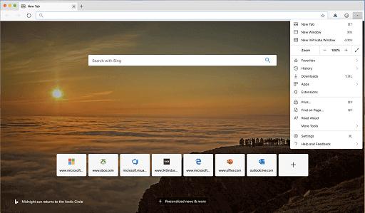 Microsoft Edge- alternative to Safari on macOS