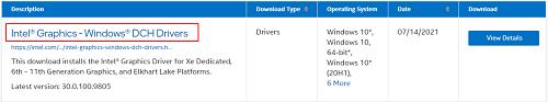 download latest intel drivers