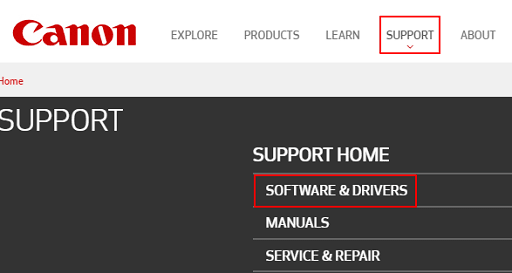 Download the driver from Canon's website