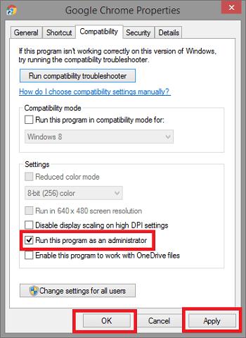 Run this program as an administrator