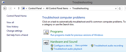 Select Hardware and Sound
