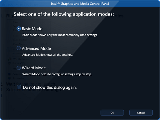 Use the Graphics Properties of your Graphics Card - select the mode of setting