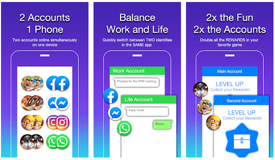 2 Accounts- Dual Space and Dual Apps