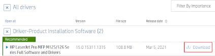HP LaserJet Pro MFP M126nw download