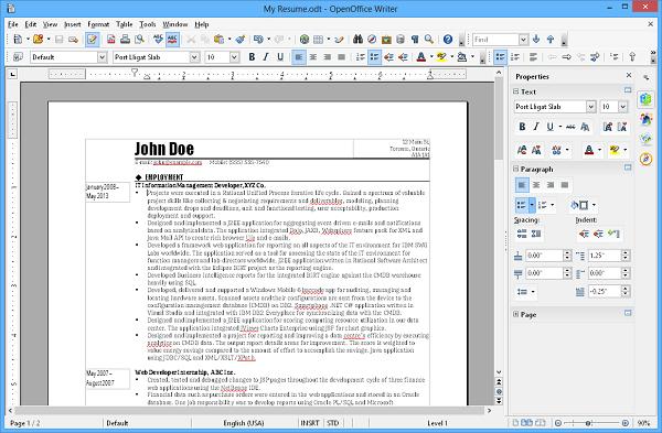Apache OpenOffice Writer