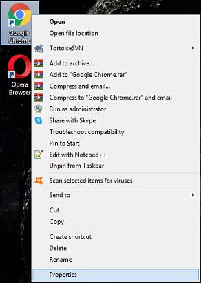 "Set ""--disable-gpu""- select on properties"