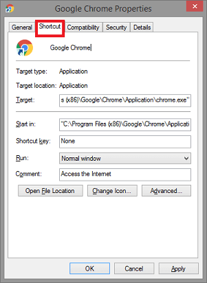 Change the Launch Settings to -no-sandbox- click on shortcut