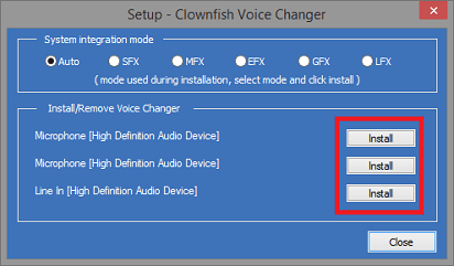 Install Clownfish Microphone and More- install