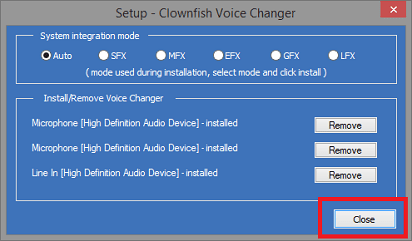Install Clownfish Microphone and More- closer