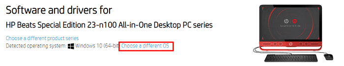 find OS for HP Beats Audio Driver from HP Support