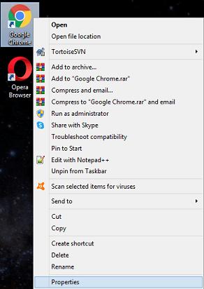 Disable Full-Screen Optimization- properties