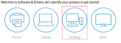 Choose Laptop or Desktop depending on what you are using on HP official website