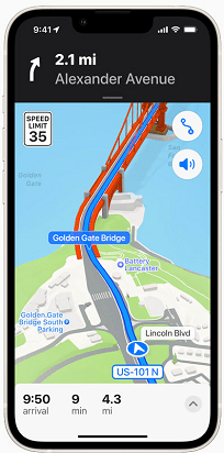 Three-Dimensional Navigation with Apple Maps