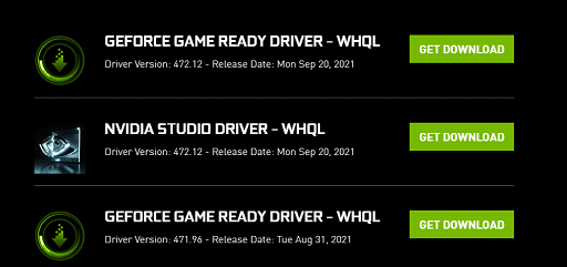 look for a suitable Game Ready Driver and download