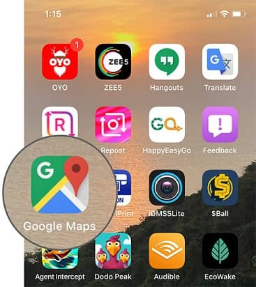 Turning off Google location history on Android- opne google maps