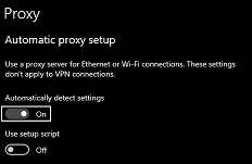Turn Off Proxy Settings- off auto detect