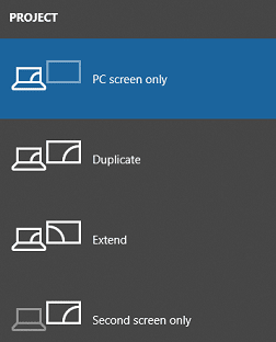 Check the display settings- select pc screen only