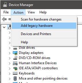 Add a Legacy Device