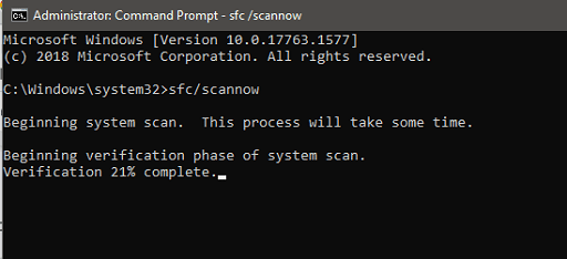 type the command and press Enter