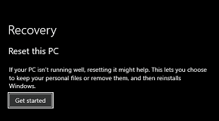 Reset the Windows to the Previous Version- Get Started