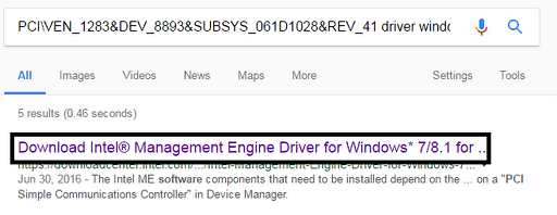 download the PCI driver