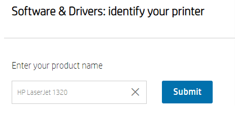 Type HP LaserJet 1320 and press Enter