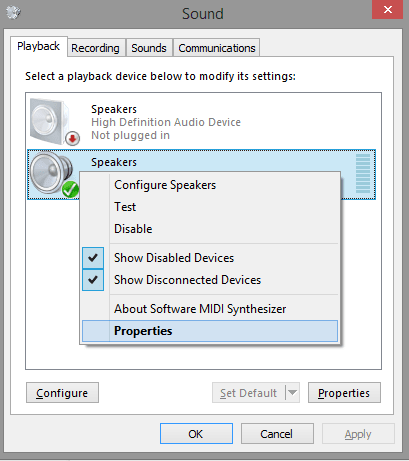 Disable Allow applications to take exclusive control of this device-properties